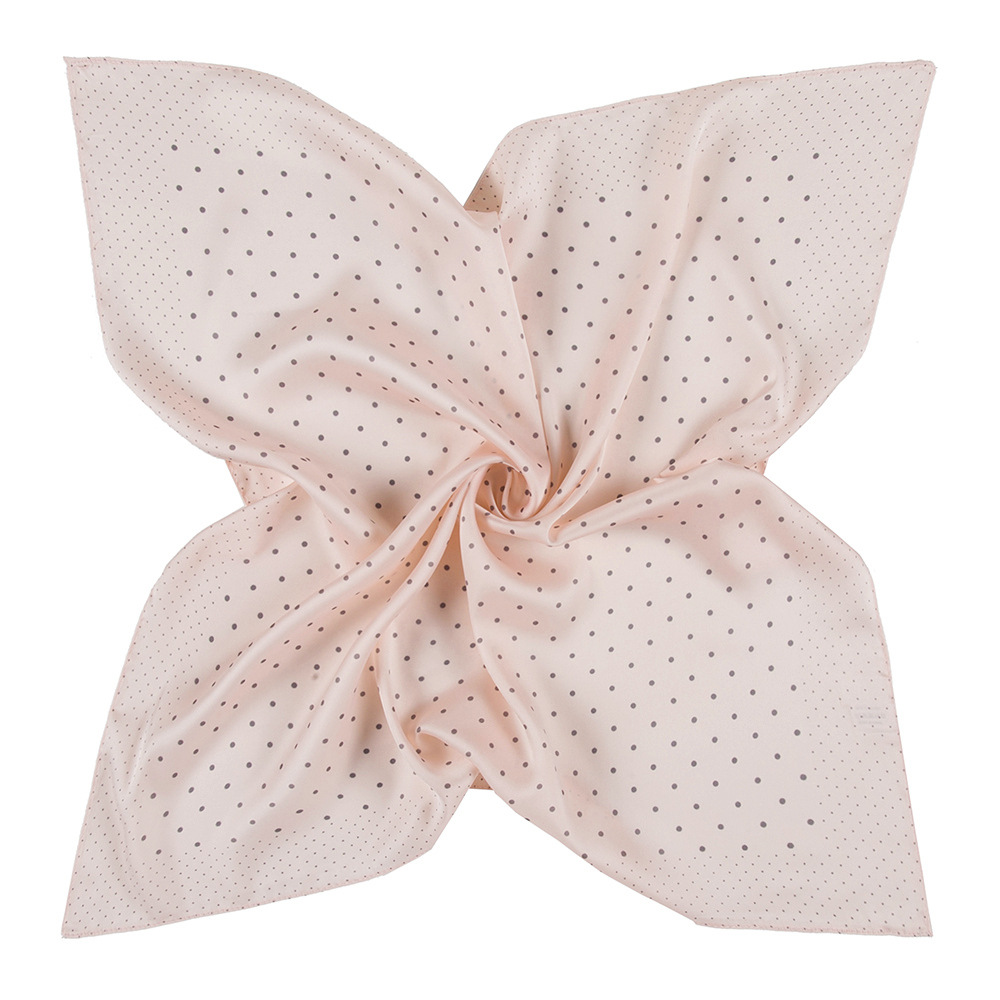 60x60cm Women Imitation Silk Scarf headscarf Fashion Lady Monochromatic Solid Wave point Turban Bandana Small Square Scarve Gift gold earrings for women