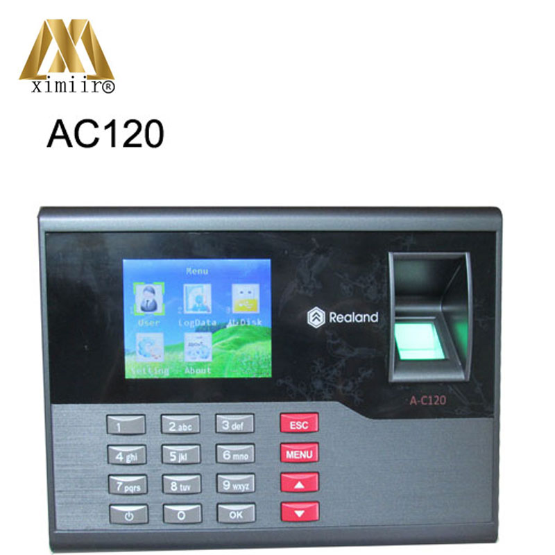 2.8 Inches TFT Screen 32bit CPU A-C120 Fingerprint Time Attendance Fingerprint Password ID Card Attendance Time Clock Recorder
