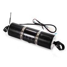 À prova dhi fi água da motocicleta guiador hi fi bluetooth música mp3 áudio usb aux alto falantes estéreo suporte ajustável led displayer
