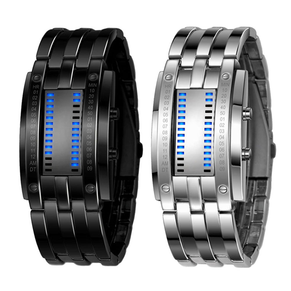 Men's Wrist LED Digital Sport Watch Matrix Waterproof Binary Multi-function Fashion Gift LXH