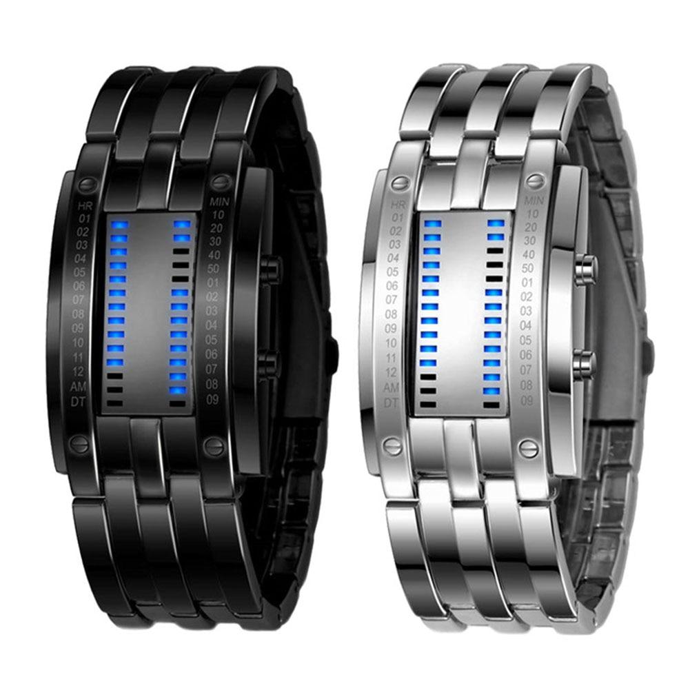 Men's Wrist LED Digital Sport Watch Matrix Waterproof Binary Multi-function Fashion Gift LXH