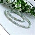 Natural Stone Bead Necklace wholesale  Handpick A-grade 5-6mm Burma Jade Loose beads Necklaces DIY Jewelry LJ080490