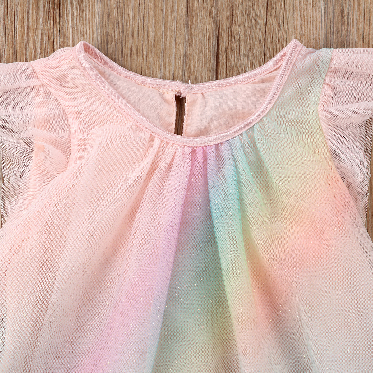 1cfa552906 2018 Unicorn Baby Girl Dress Mesh Colourful Tulle Party Fancy Dress Sundress  Summer Cute Clothing-in Dresses from Mother   Kids on Aliexpress.com