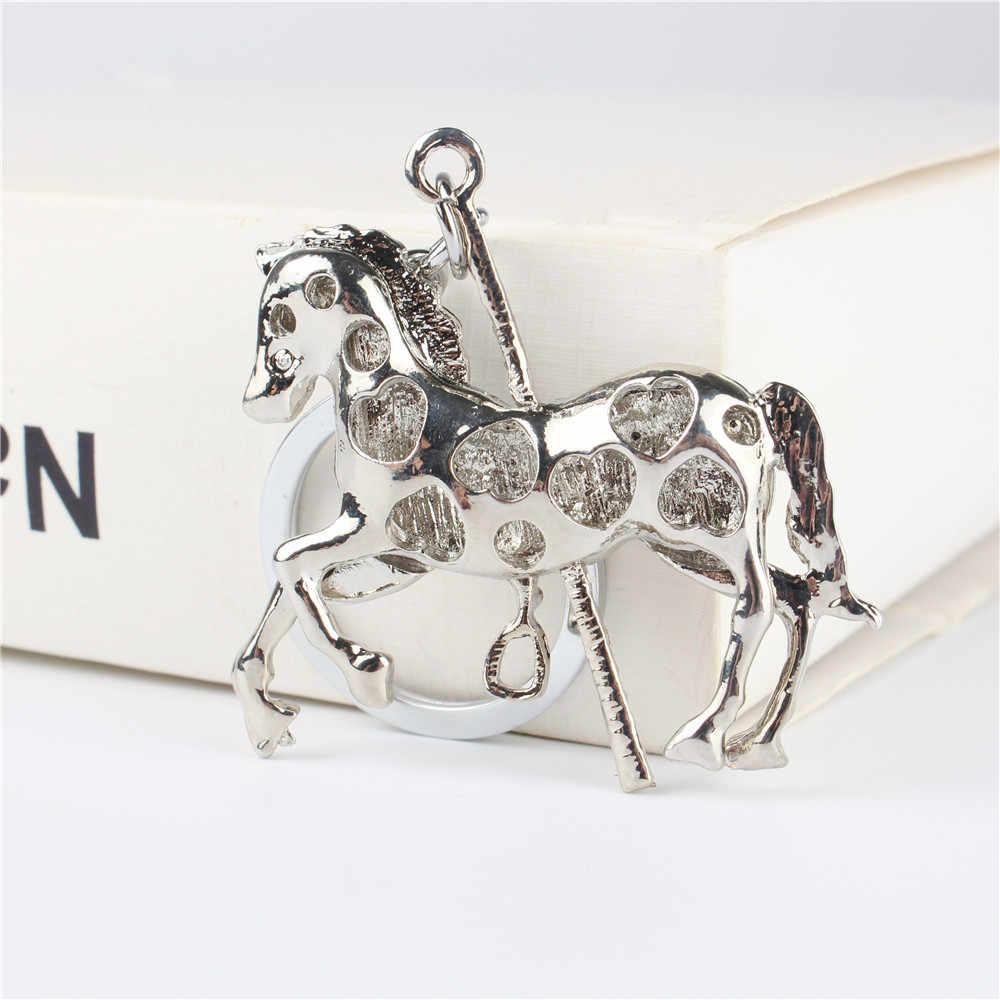 Брелок для ключей с подвеской в виде лошади троянского хрусталя, брелок для ключей, аксессуары для свадебной вечеринки, брелок для ключей, подарок