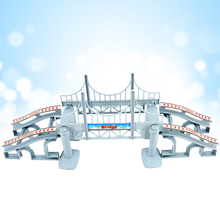 DIY Assemble Plastic Accessories Bridge and Ramp Race Track Railway Fits ALL Bend A Path Vehicle And Magic Racing Toys For Boys цена