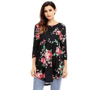 6db1bf41c65 YSMARKET Summer Blouses Ladies Black Tunic Top For Women