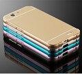 Jz duplo híbrido metal aluminum bumper + back capa huawei g7 moblie casos de telefone para huawei ascend g7 shell à prova de choque