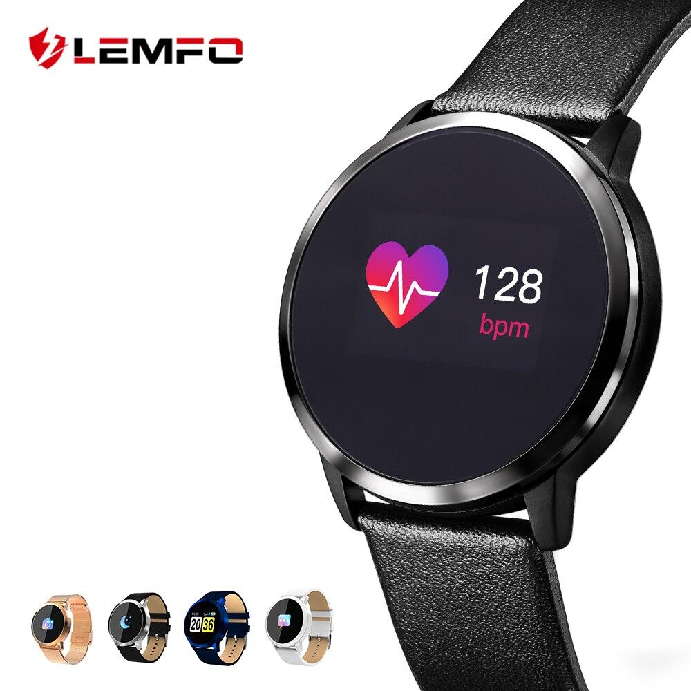 LEMFO Pedometer Smart Uhr Männer Frauen Herz Rate Blutdruck Sauerstoff Monitor OLED Bildschirm Bluetooth Sport Tragbare Geräte