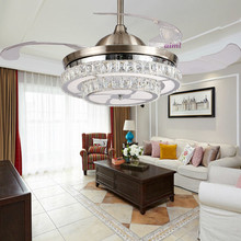 LED 42inch 108cm The dimming control K9 Crystal Ceiling Fan Modern/Contemporary Living  Lights Bedroo 110-240V