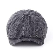 Модная восьмиугольная кепка джентльмена газетный берет шапка осень и зима для мужчин Jason Statham мужские модели плоских шапок