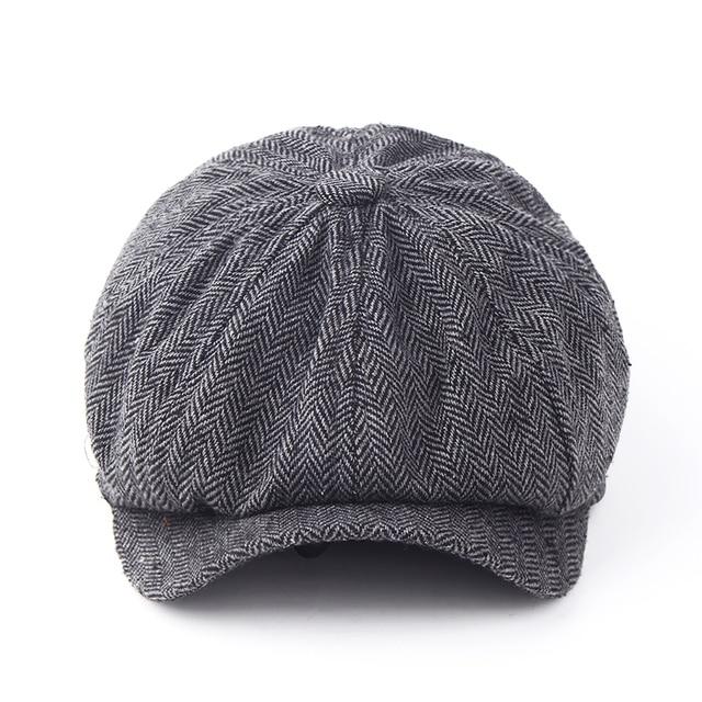 98d6fea49289 Gorra Octagonal de Caballero de moda sombrero de boina de Newsboy Otoño e  Invierno para hombres Jason Statham modelos masculinos gorras planas