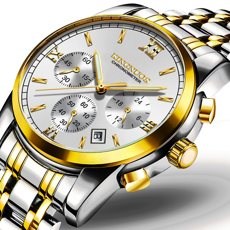 Zegarki Meskie 2017 New Famous Brand Luxury Watch Men Casual Business Quartz Watches Stainless Steel Luminous Waterproof Watches