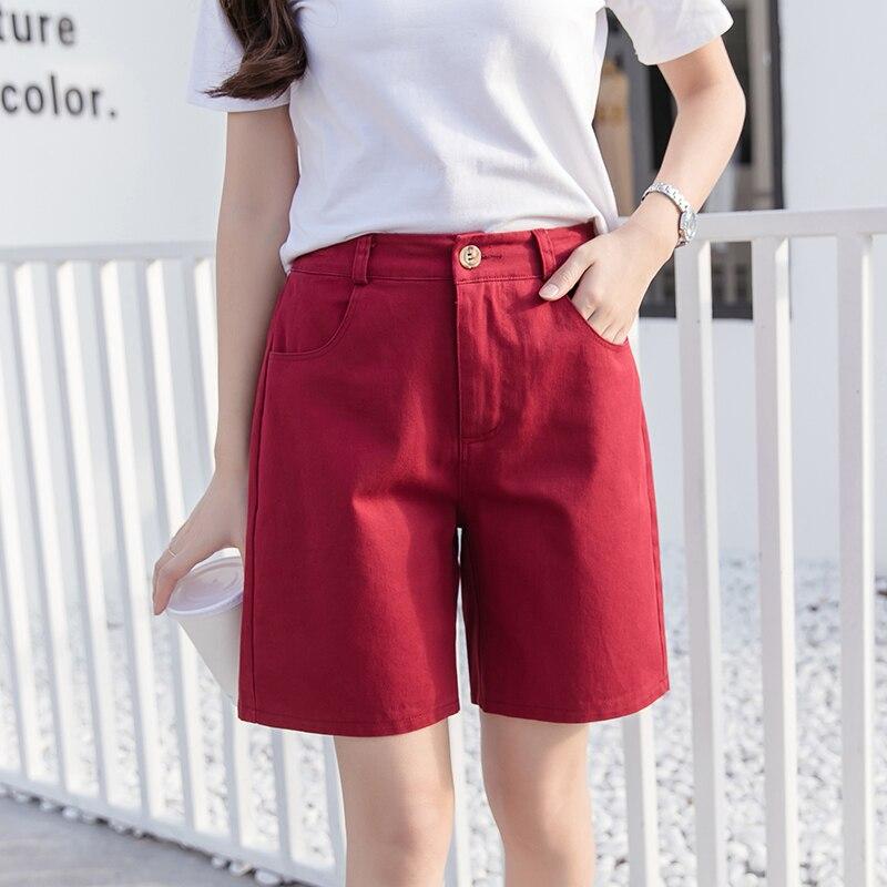 2019 summer candy color   shorts   women harajuku casual yellow khaki black women   shorts   large size 3XL cotton   short   pants mujer