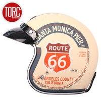 TORC T50 HELMET casco capacete open face vintage motorcycle helmet can add bubble shield jet scooter motocross helmets