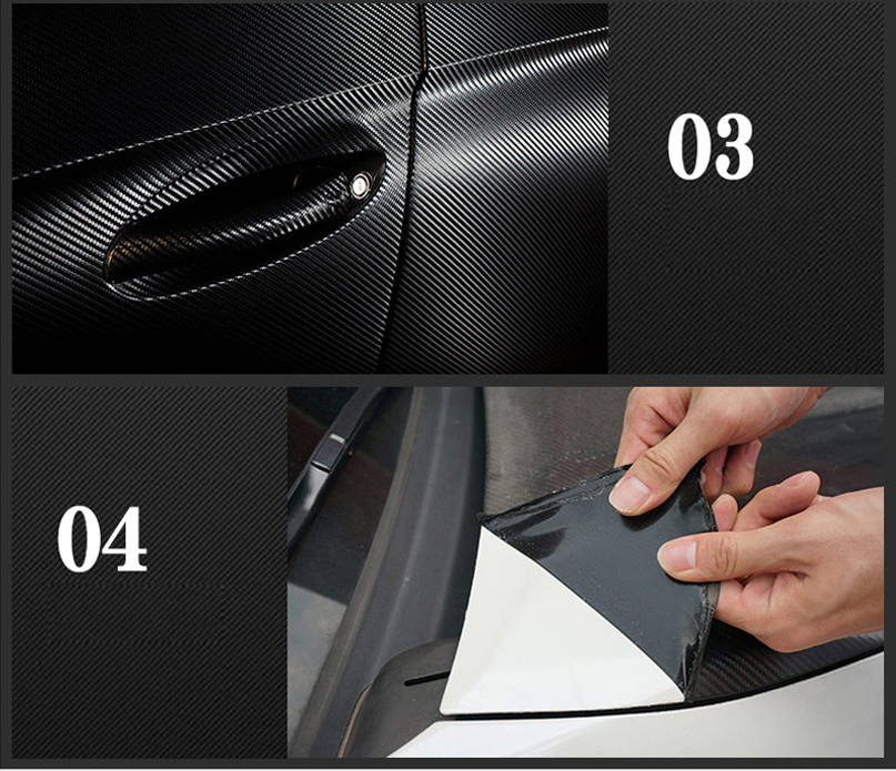Image 5 - 30*100CM Car Stickers 5D Carbon Fiber Film Inner Decor Anti Scratch Car Cover Car Accessories For Volkswagen Audi