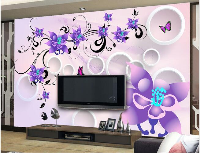 3d wallpaper custom mural non-woven 3d room wallpaper 3 d TV setting wall romantic purple flowers photo wallpaper for walls 3 d customize wallpaper for walls 3 d swan lake picture in picture 3d tv backdrop 3d photo wall mural 3d landscape wallpaper