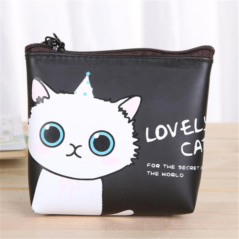 Love wallet Women Girl mini Cute Cat Fashion Coin Purse Wallet Bag Change Pouch Key Holder billeteras para mujer gift wholesaleF