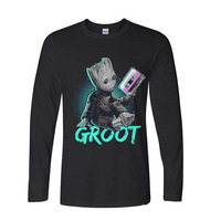 2017 Hipster Basic Tops Funny Guardians of the Galaxy funny long sleeve t shirt men