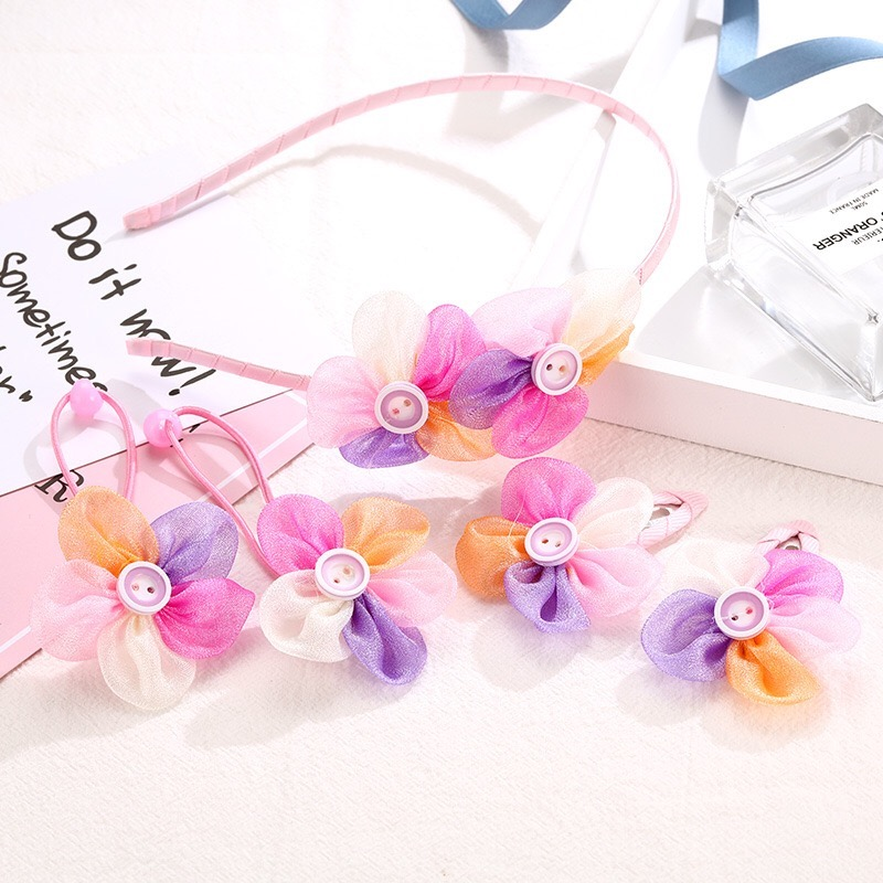 Hair Claws New Fashion Baby Girls Small Hair Claw Cute Candy Color flower Hair Jaw Clip Children Hairpin Hair set Accessories in Hair Accessories from Mother Kids