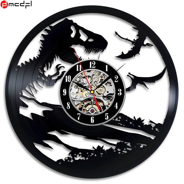 Home Living Dinosaur World Modern Design 12 inch Vinyl Wall Clock Dinosaur Art Decoration