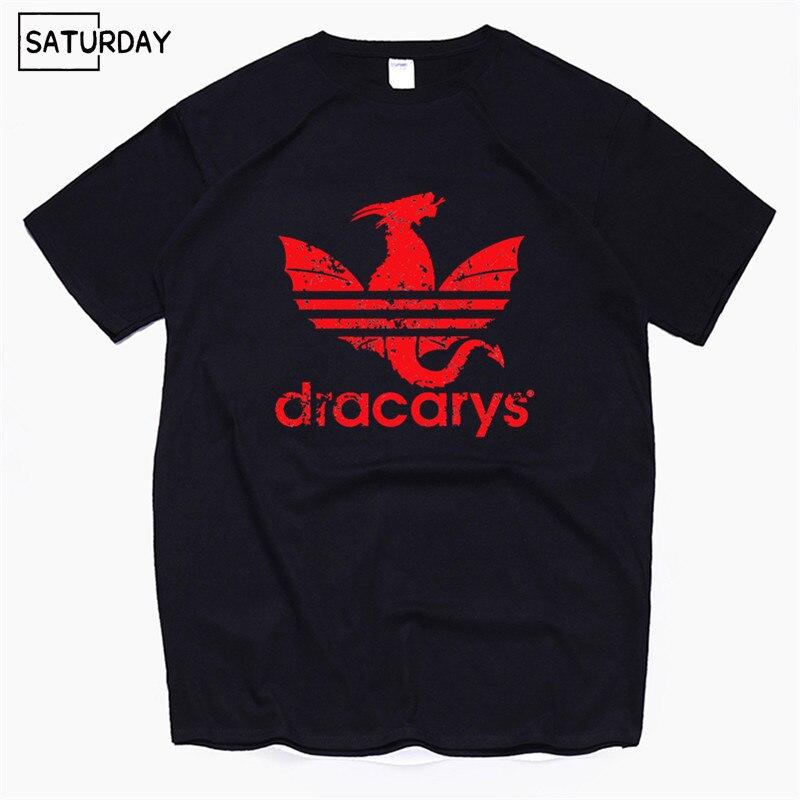Dracarys Esporte Game Of Thrones Adultos Unissex T-Shirt harajuku estilo Do Vintage T shirt Camisetas hombre Camiseta Roupas Masculinas 2019