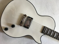 Best Price Top Quality LP Custom Shop white Color Electric Guitar EBONY fretboard,one pickups, Free shipping
