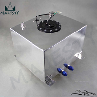 Aluminum 8 Gallon 30.5 Liter Racing Drift Fuel Cell Tank + Level Sender Black / Silver