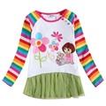 2-6T white brand girl t shirt,kids t shirt,children t shirts,t-shirts for children,baby t-shirts,t-shirts for girls enfant dora
