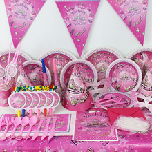 78pcs/2018 New Kids Birthday Party Decoration Set Birthday Dream Girl Theme Party Supplies Baby Birthday Party Pack CK-002