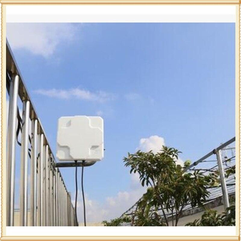 2 * 22dBi extérieur 4G LTE MIMO antenne, LTE double polarisation panneau antenne SMA-mâle connecteur (blanc ou noir) 5 M câble