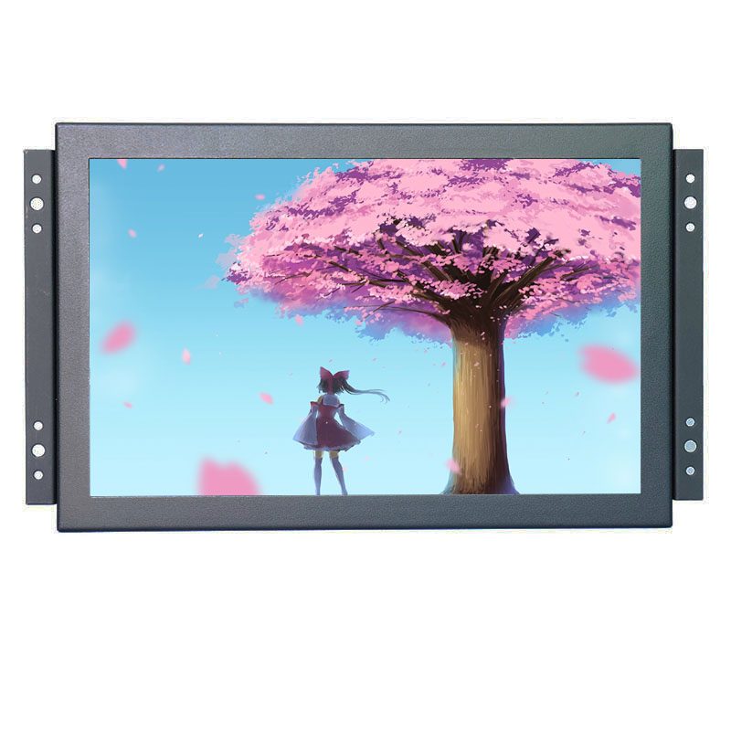 Open frame 10.1 inch wide industrial monitor mount lcd monitor with USB VGA HDMI interface and speakers