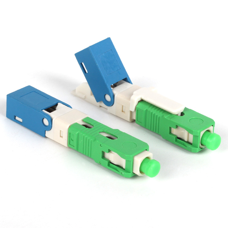 100PCS FTTH SC APC Optical fibe quick connector SC APC FTTH Fiber Optic Fast Connector-in Fiber Optic Equipments from Cellphones & Telecommunications