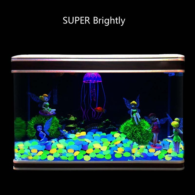 Home Garden Luminous Stones Park Decor Road Pebble Glow In Dark Outdoor Fish Tank Decoration