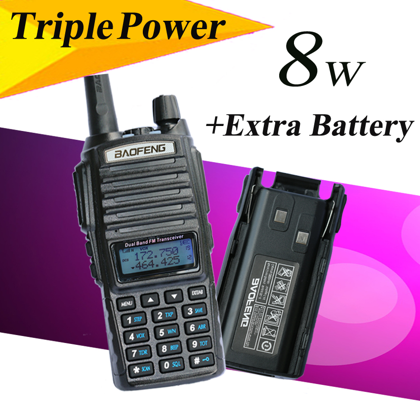 BaoFeng UV 82 8w UV 82HX Portable Radio 10KM Walkie Talkie Sister amateur radio baofeng uv