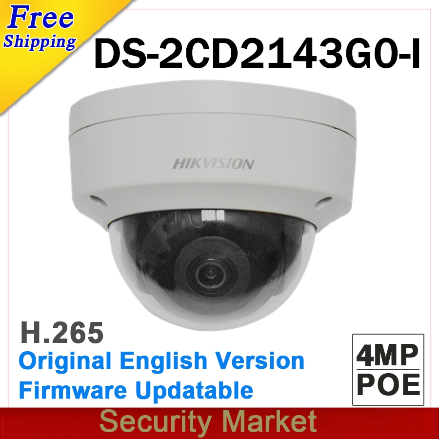 Original hikvison English DS 2CD2143G0 I replace DS 2CD2142FWD I IP67 POE 4MP Dome IR WDR