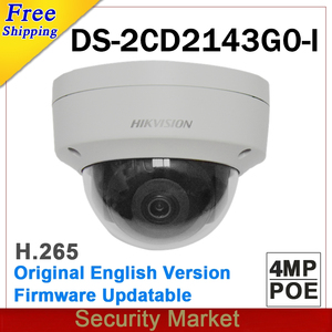 Image 1 - Original hikvision surveillance DS 2CD2143G0 I replace DS 2CD2142FWD I IP camera POE 4MP Dome IR CCTV H265 Firmware Upgrade