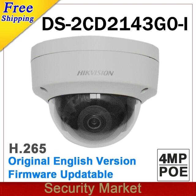 Original hikvision surveillance DS 2CD2143G0 I replace DS 2CD2142FWD I IP camera POE 4MP Dome IR CCTV H265 Firmware Upgrade