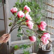 7 헤드 목련 꽃 홈 웨딩 파티 휴일 장식 일러스트 공예품
