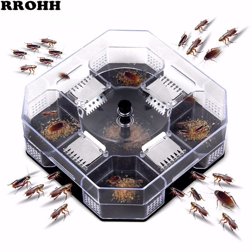 Hot Sale Effective Cockroach Trap Box Cockroach Catcher Cockroach Killer Bait Reusable Trap No Pollution For Home Kitchen