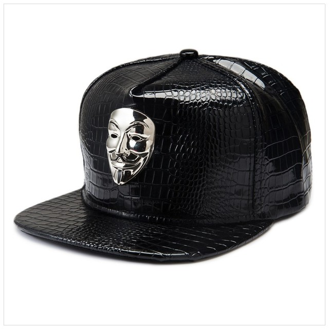New Vintage America Drama V For Vendetta Men Hip Hop Hat Baseball Caps Casual Snapback Swag Style Golden/Silver/White