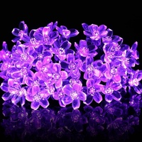 Solar Strings Lights 23ft 50 LED Bloem Tuin Licht Bloesem Verlichting voor Thuis Bruiloft Decoratie