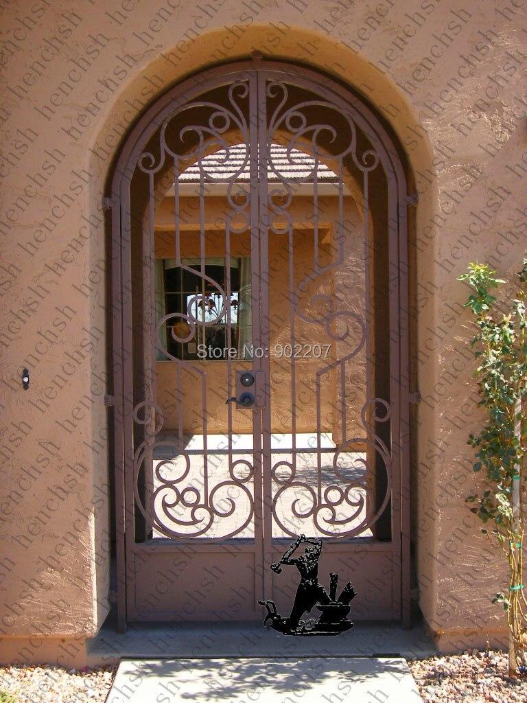 Hench 100% Steel Metal Iron Wrought Iron Security Doors For French Doors