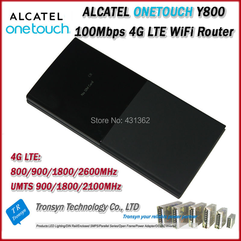 Cheapest Original Unlock LTE FDD 100Mbps Alcatel One Touch Y800 4G LTE Wireless Router And 4G Mobile WiFi Hotspot dual sim industrial 4g fdd lte wifi wireless router 100mbps unlock hotspot for m2m application support gps model h700t f1