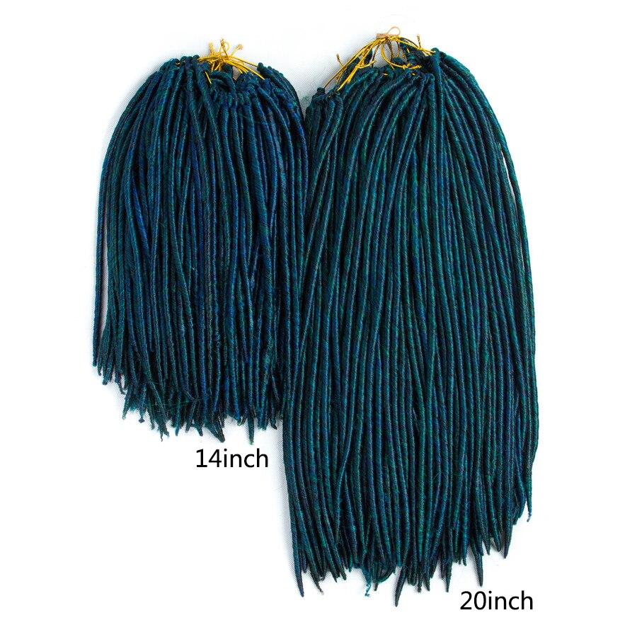 Aigemei Falso Sintético Locs Cabelo de Crochê 14 Polegada 20 Polegada Trança Extensões Do Cabelo da Fibra Resistente Ao Calor Para As Mulheres