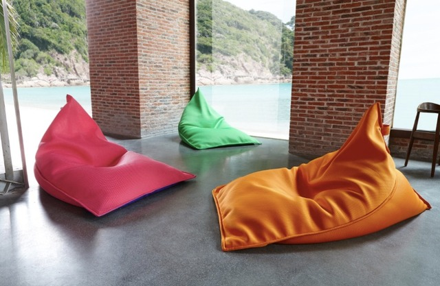 Modern Bean Bag Living Room Chair Leisure Lazy Sofa Bag Cover Only