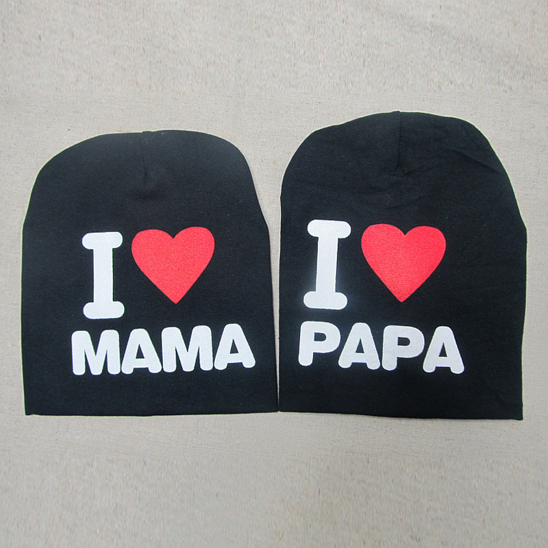 Neue 0-2 Jahre Iove MOM Love DAD Brief Baumwolle Babymütze Cap Girl - Babykleidung - Foto 4