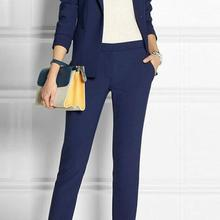 Navy Blue 2 piece set wome suits blazer suit