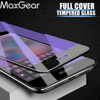 Full cover Tempered Glass For HUAWEI honor 8 lite p8lite 2017 8lite p8 screen protective cover black White gold blue case 9H