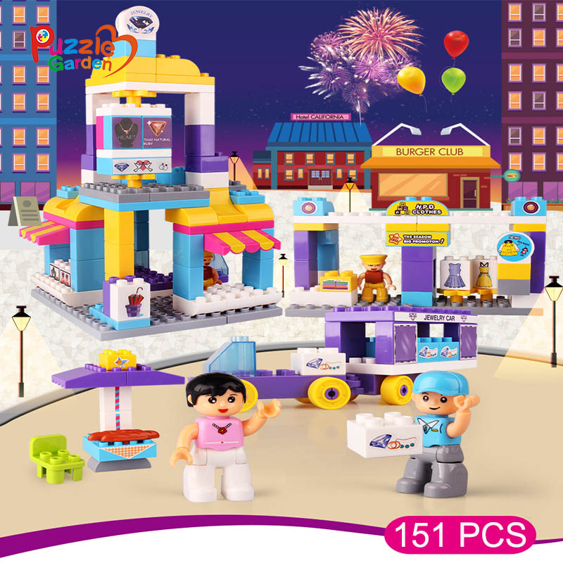 1622 151PCS City Supermarket Building Bricks Blocks Toys Model Bricks Toy Compatible Educational Toys for Kids Christmas Gift 10494 city supermarket building bricks blocks set girl toy compatible lepine friends 41118