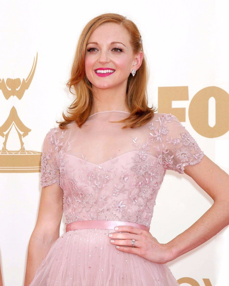 Fashion-2016-Jayma-Mays-Celebrity-Dresses-New-red-carpet-dress-Short-Sleeves-Pink-Appliques-Tulle-Tiered (1)